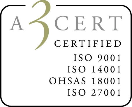 Bemannia är miljöledningscertifierade enligt ISO 9001:2008, ISO 14001:2004 och OHSAS 18001:2007
